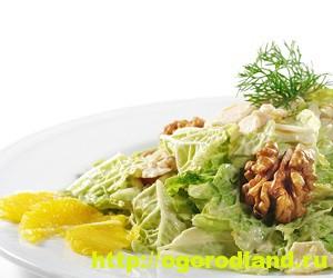 Салаты с мандаринами. Подборка рецептов вкусных салатов 3