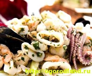 Салаты из морепродуктов. Вкусные рецепты приготовления 4