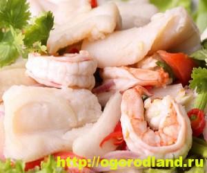Салаты из морепродуктов. Вкусные рецепты приготовления 6