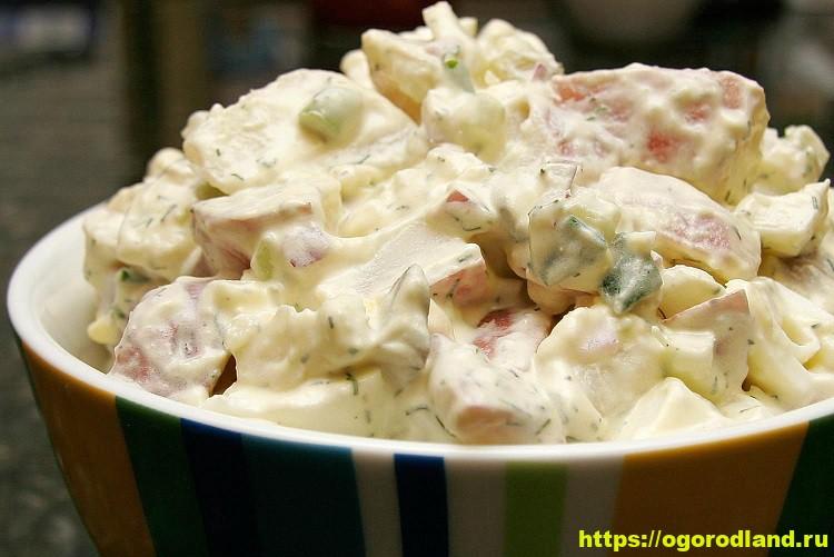 Необычный итальянский салат из фруктов и картофеля 16