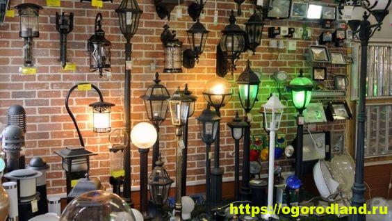 Осветительные приборы наружного типа