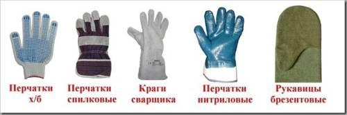 Основные виды рукавиц для работы
